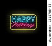 holidays vector. happy holidays ... | Shutterstock .eps vector #1516788455