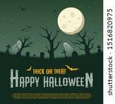 happy halloween concept on... | Shutterstock .eps vector #1516820975