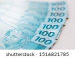 brazilian money   one hundred... | Shutterstock . vector #1516821785
