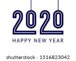 happy new year greeting card... | Shutterstock .eps vector #1516823042