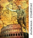 Ancient Romans Signs Backgroun...