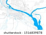 Rich detailed vector area map of Kennewick, Washington, USA. Map template for home decor.