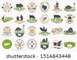 american farm and honey bee...   Shutterstock .eps vector #1516843448