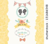 Stylish Save The Date Card In...