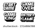 lettering game design set... | Shutterstock .eps vector #1516886588