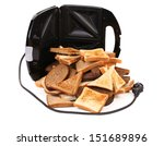 Sandwich toaster. And this is not the limit. - stock photo