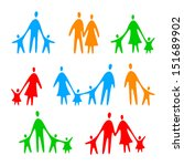 Family Icons   Vector Template...