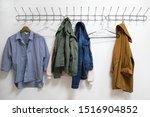 A shirt  jackets and a hanger...