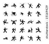 logos of sports  olympics... | Shutterstock . vector #15169429