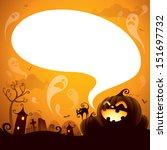 halloween jack o lantern with... | Shutterstock .eps vector #151697732