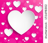 heart background | Shutterstock .eps vector #151698302