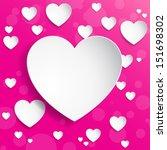 heart background | Shutterstock .eps vector #151698302