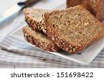 sliced bread with sunflower... | Shutterstock . vector #151698422