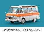 old soviet van in cartoon style ... | Shutterstock . vector #1517036192