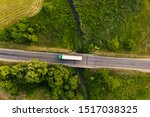 Drone Top Down View Of Truck...