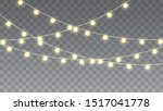 christmas lights. glowing... | Shutterstock .eps vector #1517041778
