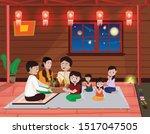 tadingyut  myanmar traditional... | Shutterstock .eps vector #1517047505