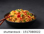 Veg Schezwan Fried Rice In...