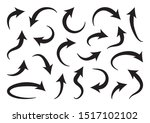 set of different curve arrows ... | Shutterstock .eps vector #1517102102