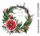 Christmas Card  Wreath Of...