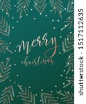 merry christmas card. vector... | Shutterstock .eps vector #1517112635