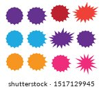 colorful paper starburst speech ...   Shutterstock .eps vector #1517129945