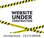 under construction website page.... | Shutterstock .eps vector #1517130098