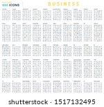 linear big set of business | Shutterstock .eps vector #1517132495