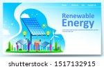 green renewable energy concept...
