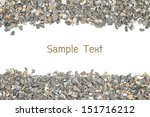 Stone Gravel Frame On White