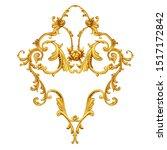 golden arabesque with golden... | Shutterstock . vector #1517172842