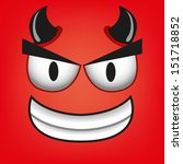 A Vector Cute Cartoon Red Devi...