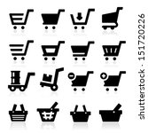 shopping cart icons   Shutterstock .eps vector #151720226