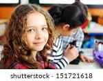 cute lovely school children at... | Shutterstock . vector #151721618