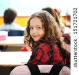 Cute Lovely School Children At...
