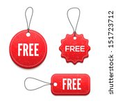 3d free badges set for your... | Shutterstock .eps vector #151723712