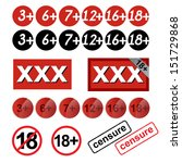 set of age restriction signs   Shutterstock .eps vector #151729868