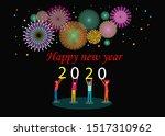 illustration happy new year... | Shutterstock .eps vector #1517310962