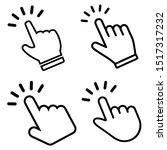 hand clicking vector icons set. ...   Shutterstock .eps vector #1517317232