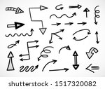 vector set of hand drawn arrows | Shutterstock .eps vector #1517320082
