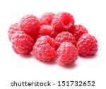 Heap of raspberry - stock photo