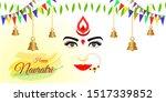 vector illustration of navratri ... | Shutterstock .eps vector #1517339852