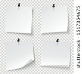 blank note papers  pinned with... | Shutterstock .eps vector #1517354675