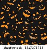 seamless halloween pattern.... | Shutterstock .eps vector #1517378738