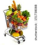 Full Shopping Grocery Cart....