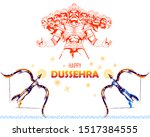 illustration of lord rama... | Shutterstock .eps vector #1517384555