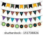 vector collection of halloween... | Shutterstock .eps vector #151738826