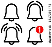 notification bell vector icons...