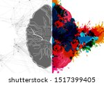 abstract vector left and right... | Shutterstock .eps vector #1517399405