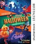 banner for halloween  night...   Shutterstock .eps vector #1517411108
